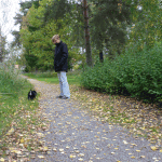 Matte Lena och Moa på en liten promenad