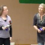 En stolt Marie med Moas första rosett