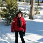 Lena ute i skogen