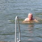 Tomas i badet - det är jätteskönt